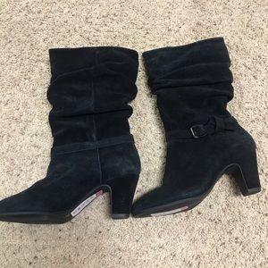 "Alex Marie ""Yarra"" Black Suede Boots"
